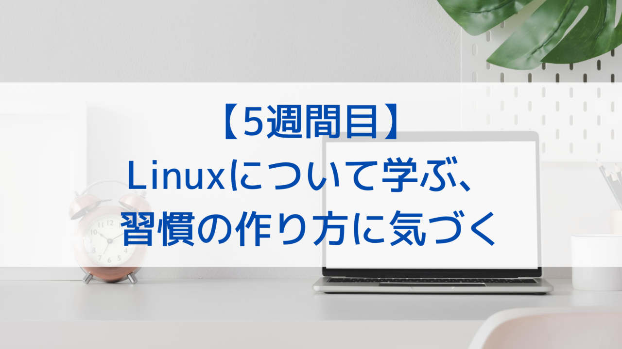 【5週間目】Linuxについて学ぶ、習慣の作り方に気づく